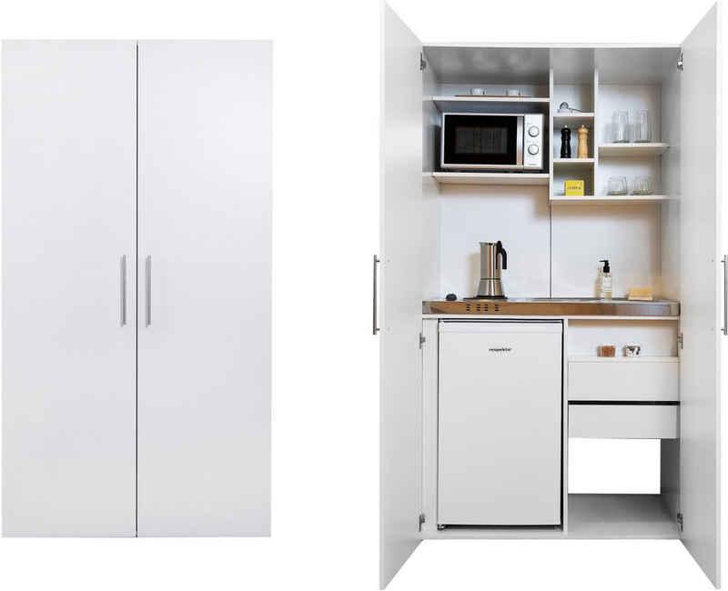 RESPEKTA Miniküche mit Kochplatten, Kühlschrank und Mikrowelle