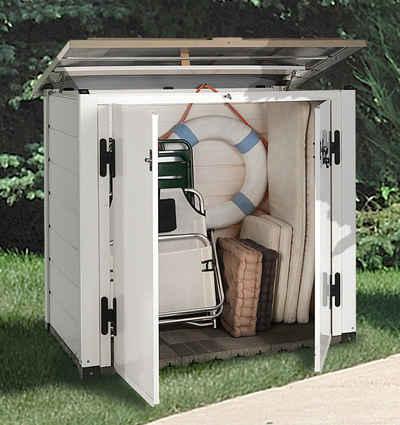 Garofalo Mülltonnenbox »EVO LINE 100«, für 2x120 l aus Kunststoff, BxTxH: 122,5x82,5x133 cm