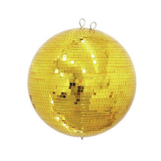 SATISFIRE Discolicht »Spiegelkugel 30cm - gold - Safety - Diskokugel Echtglas - 10x10mm Spiegel PROFI«