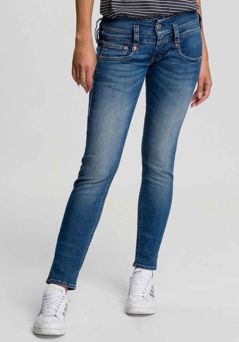 Herrlicher Slim-fit-Jeans »PITCH SLIM ORGANIC« Vintage-Style mit Abriebeffekten