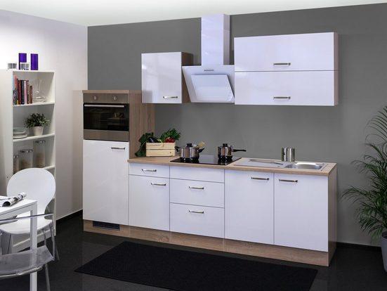 FLEX-WELL Küchenzeile mit E-Geräten »Valero«, Gesamtbreite 270 cm