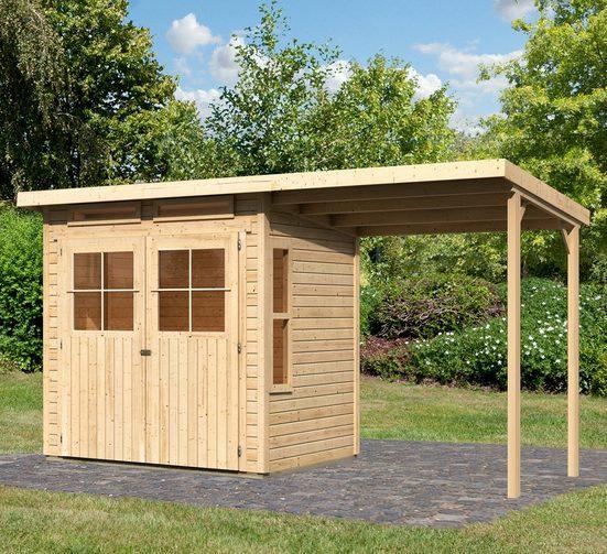 KONIFERA Gartenhaus »Falkensee 2«, BxT: 415x175 cm, Set