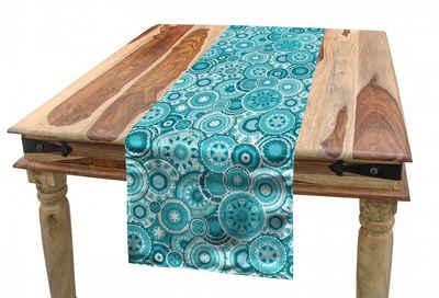 Abakuhaus Tischläufer »Esszimmer Küche Rechteckiger Dekorativer Tischläufer«, Wasser Mandala Runde