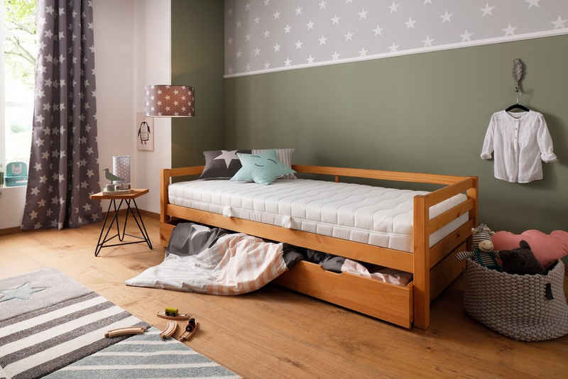 Komfortschaummatratze »Lixi Basic«, Lüttenhütt, 16 cm hoch, Raumgewicht: 32, Extra keine Zonierung der Matratze: so schläft Dein Kind immer gut, egal, wo es auf der Matratze liegt