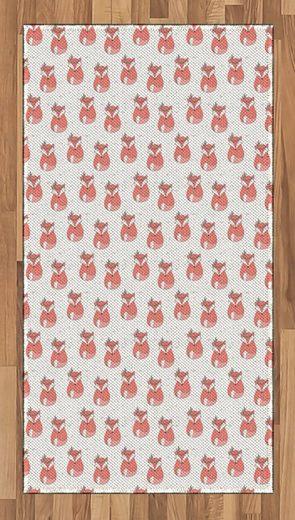 Teppich »Flachgewebe Deko-Teppiche für das Wohn-,Schlaf-, und Essenszimmer«, Abakuhaus, rechteckig, Fuchs Abstrakt gepunktete Hintergrund