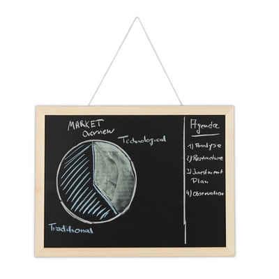 relaxdays Wandtafel »1 x Kreidetafel mit Holzrahmen 30x40 cm«