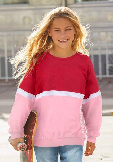 KangaROOS Sweatshirt sehr weite Form mit Logodruck