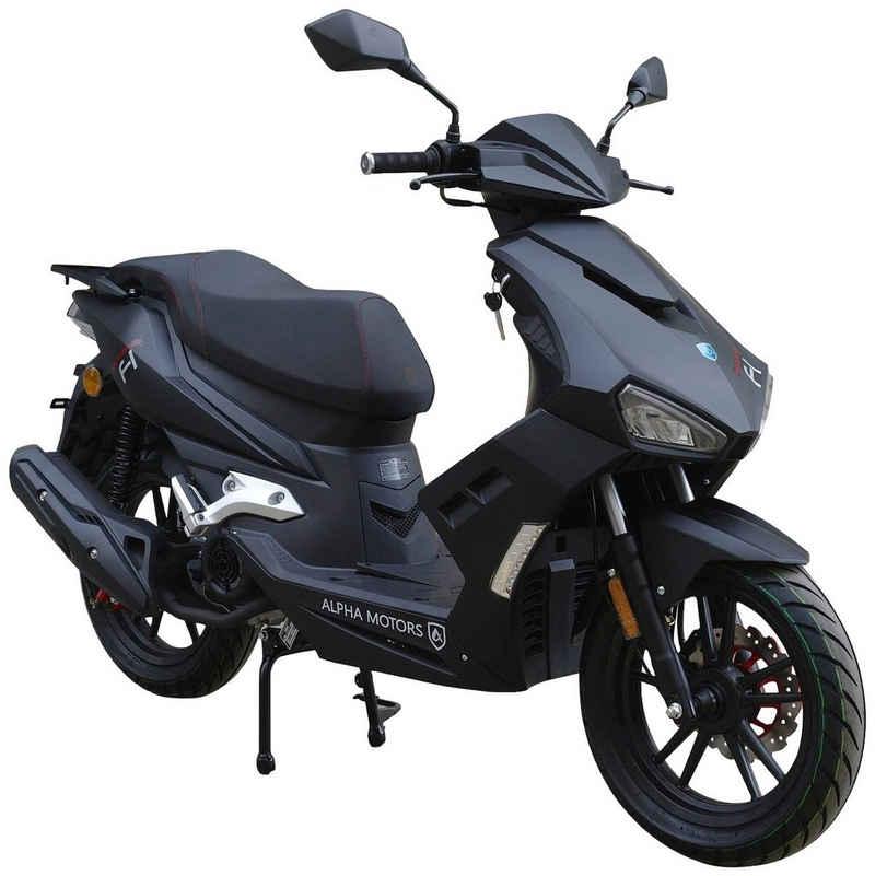 Alpha Motors Motorroller »Mustang«, 125 ccm, 85 km/h, Euro 5, mattschwarz