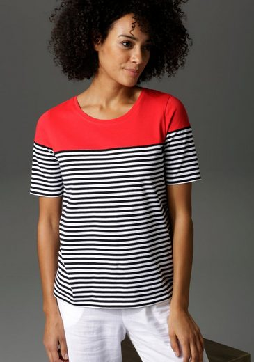 Aniston CASUAL T-Shirt im Marine-Look - NEUE KOLLEKTION