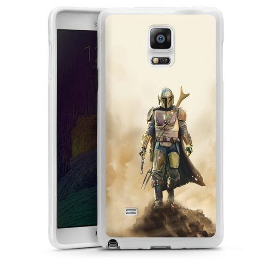 DeinDesign Handyhülle »The Mandalorian Rock« Samsung Galaxy Note 4, Hülle The Mandalorian Star Wars Offizielles Lizenzprodukt