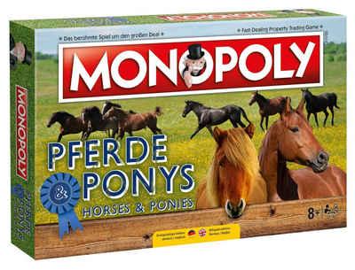 Winning Moves Spiel, Brettspiel »Monopoly Pferde und Ponys«, Zwei Sprachen in einem Spiel. Komplett auf deutsch oder englisch spielbar!