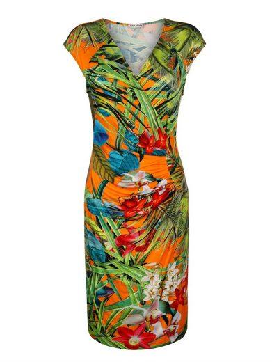 Alba Moda Strandkleid mit tropischen Blumendruck