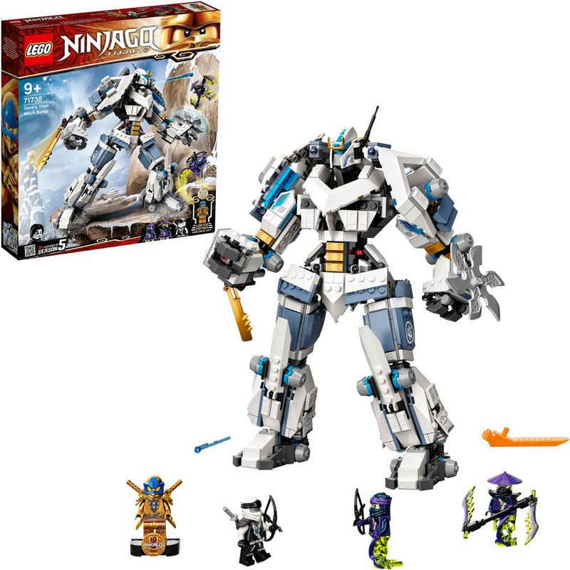 LEGO® Konstruktionsspielsteine »Zanes Titan-Mech (71738), LEGO® NINJAGO®«, (840 St), Made in Europe
