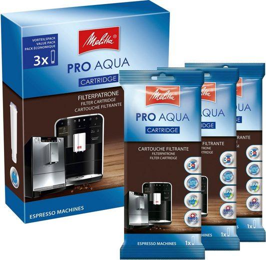 Melitta Filter-Set 3-er Pro Aqua Wasserfilter, Zubehör für Alle Kaffeevollautomaten mit Claris System: Caffeo Solo, Barista T, Barista TS, Avanza