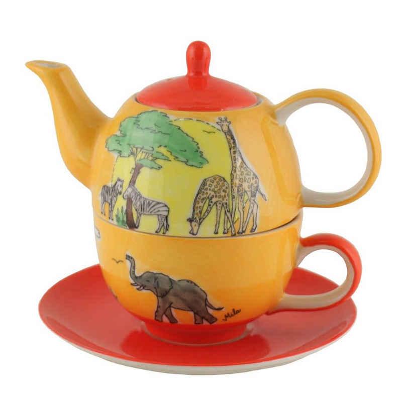Mila Teekanne »Mila Keramik Tee-Set Tea for One Afrika«, 0,4 l, (Set)