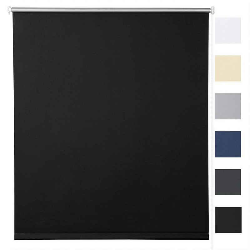 Verdunklungsrollo »TR5700«, Woltu, verdunkelnd, verspannt, Klemmfix ohne Bohren,easyfix lichtundurchlässig, Sichtschutz Sonnenschutz für Fenster & Tür