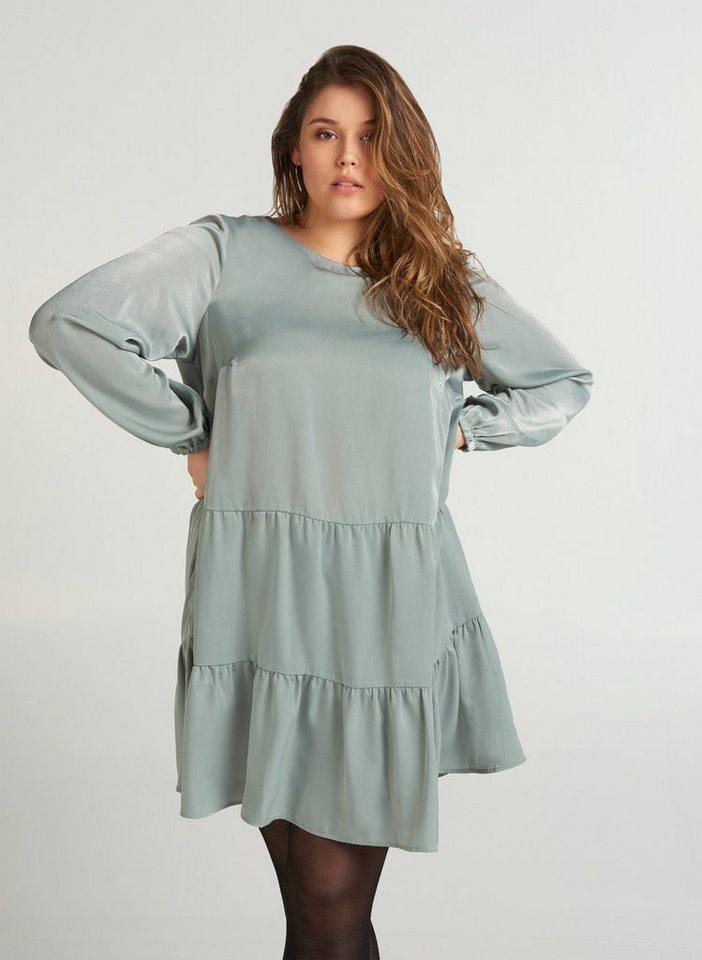 Zizzi Abendkleid Große Größen Damen Shiny Kleid mit ...