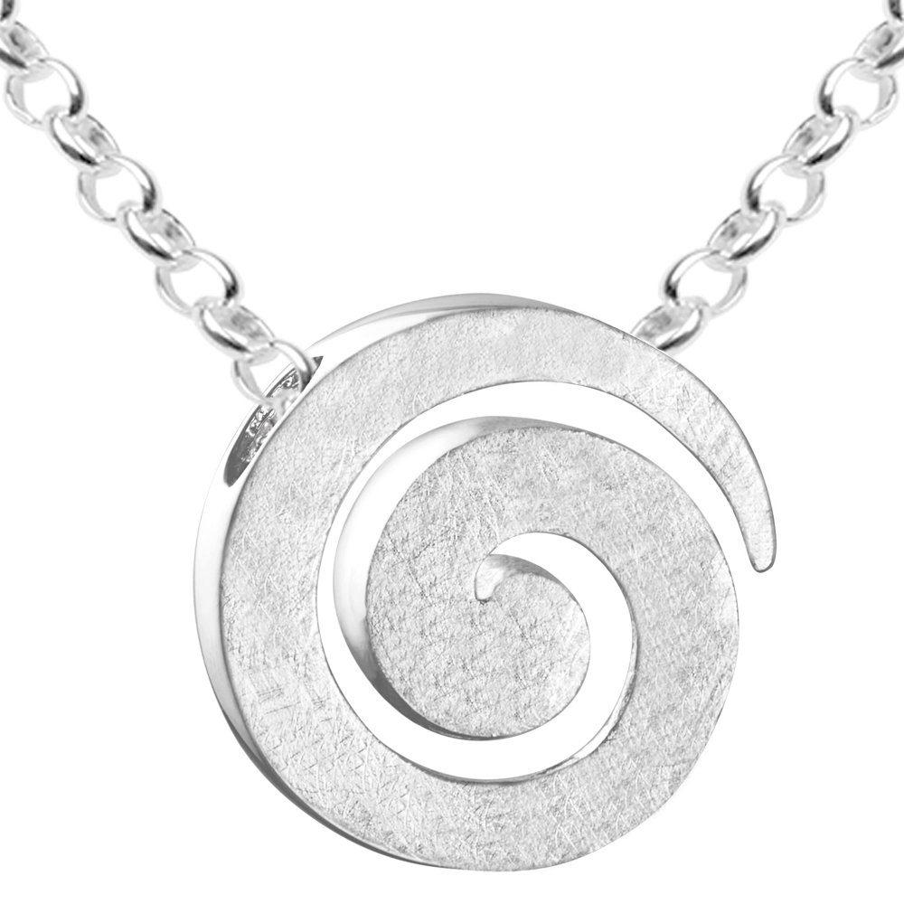 Vinani Kettenanhänger, Vinani Anhänger Spirale gebürstet mit Erbskette Sterling Silber 925 Kette Italien ASR T online kaufen | OTTO