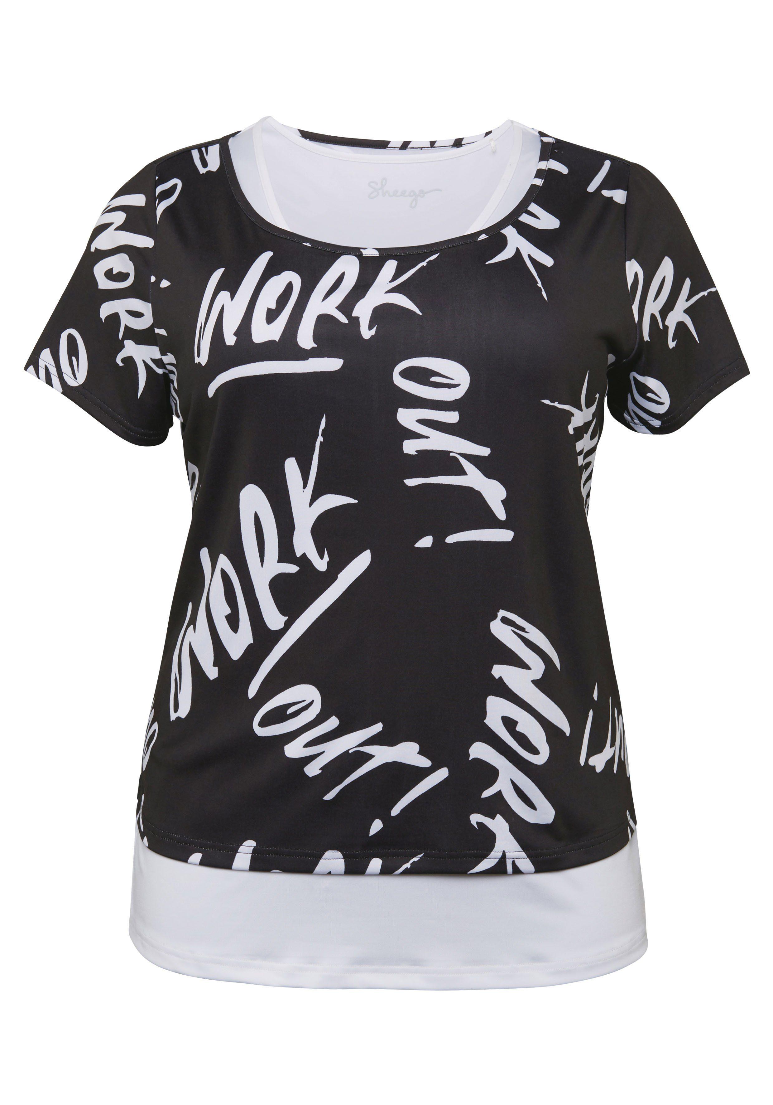Sheego T-Shirt und Top im Set, Shirt in figurumspielender Form