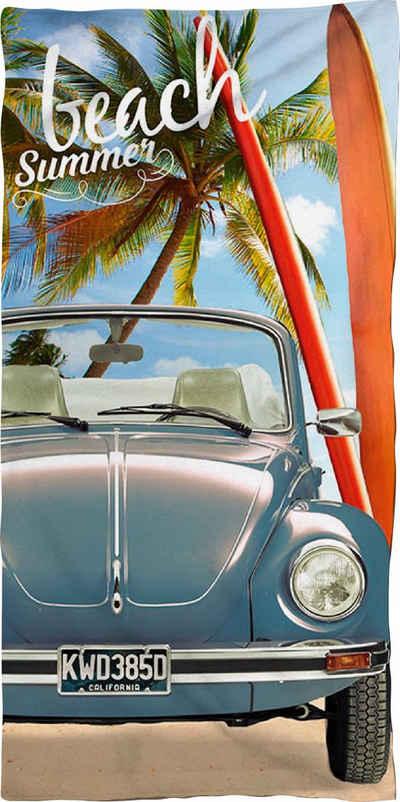 Volkswagen Strandtuch »Beach Summer« (1-St), mit Käfer