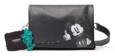 Desigual Umhängetasche »MICKEY DORTMUND FLAP«, mit Mickey Mouse Angänger