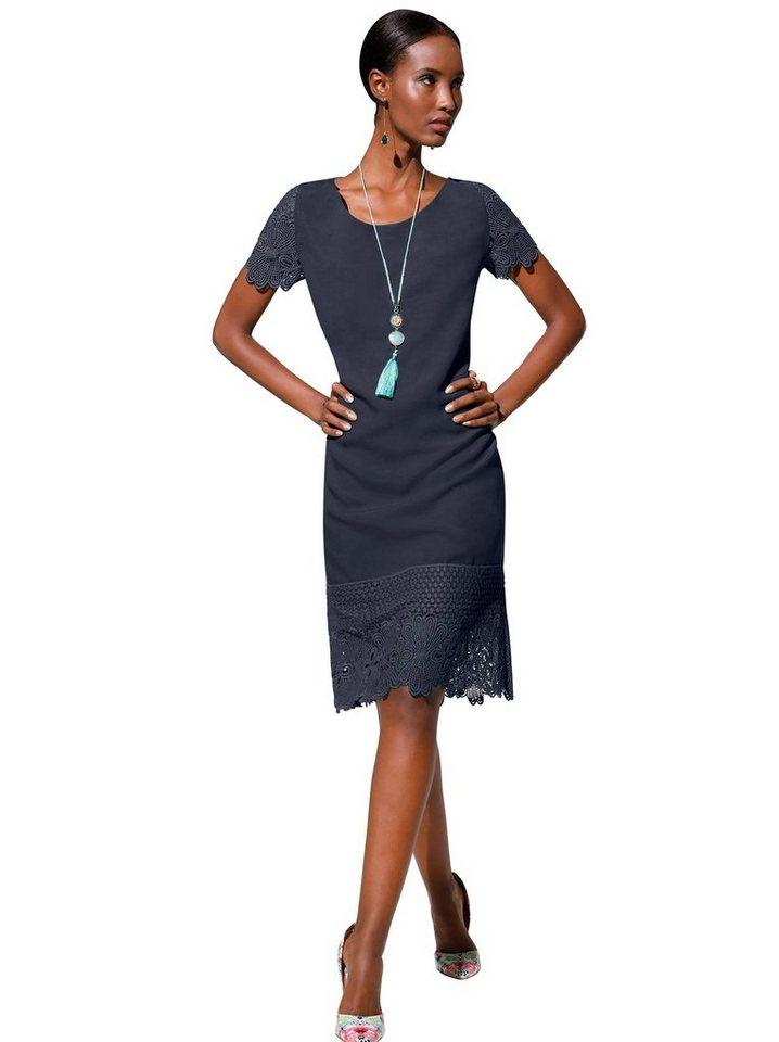 Festtagsmode - creation L Spitzenkleid »Lyocell Kleid« › blau  - Onlineshop OTTO