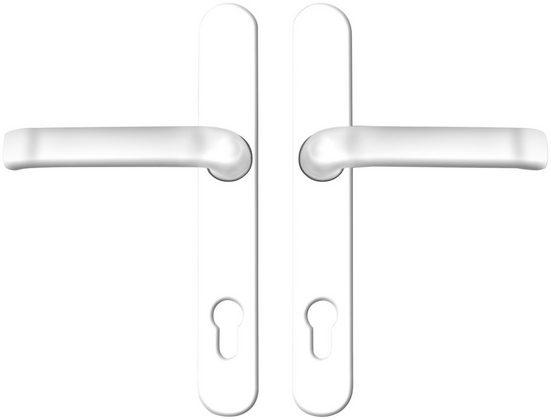 KM Zaun Drückergarnitur, Drücker außen, 2-tlg., Metall, silberfarben