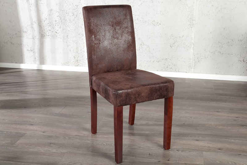 riess-ambiente Stuhl »GENUA cigar braun«, Polsterstuhl · Esszimmer · Microfaser · Massivholz-Beine