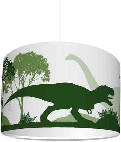 """STIKKIPIX Lampenschirm »KL56«, Kinderzimmer Lampenschirm """"Dinosaurier"""", kinderleicht eine Dino Lampe erstellen, als Steh- oder Hängeleuchte/Deckenlampe, perfekt für Dinosaurier-begeisterte Jungen"""