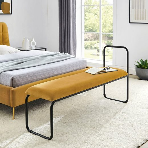 COUCH♥ Sitzbank »Privatbank«, gepolsterte Sitzfläche, auch als Garderobenbank oder Bettbank geeignet