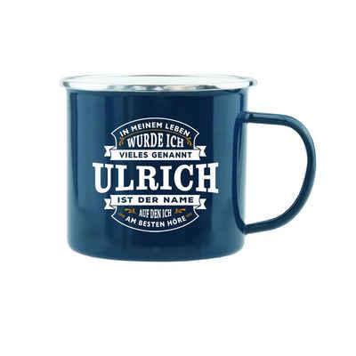 HTI-Living Becher »Echter Kerl Emaille Becher Ulrich«, Emaille