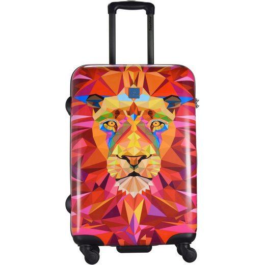 Saxoline® Hartschalen-Trolley »Jungle Lion«, 4 Rollen, ABS