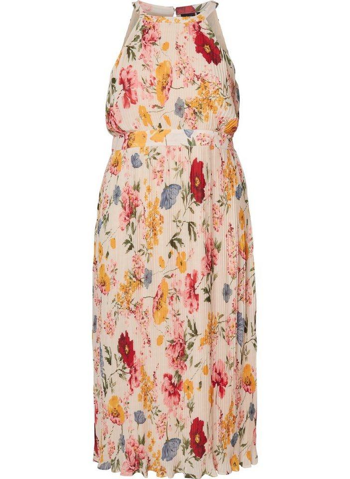 zizzi -  Abendkleid Große Größen Damen Ärmelloses Maxi Kleid mit Plissee