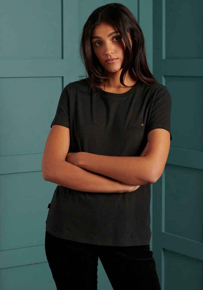 Superdry T-Shirt »ORANGE LABEL TSHIRT NS« T-Shirt aus Bio-Baumwolle