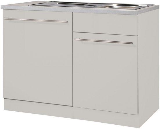 wiho Küchen Spülenschrank »Chicago« 110 cm breit, inkl. Tür/Sockel für Geschirrspüler