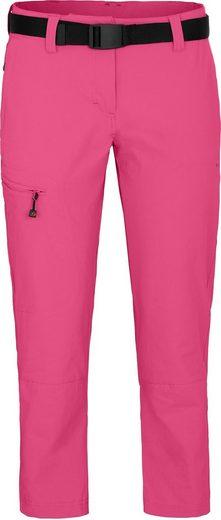 Bergson Outdoorhose »MENA 7/8 (slim)« vielseitige Damen 7/8 Wanderhose, Normalgrößen, pink