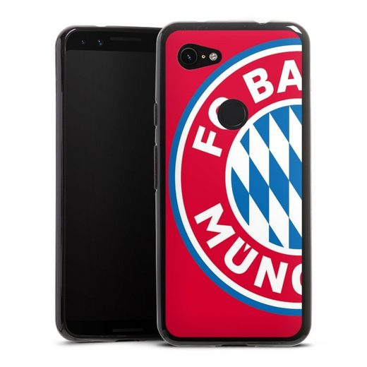 DeinDesign Handyhülle »großes FCB Logo Rot« Google Pixel 3a, Hülle FC Bayern München Offizielles Lizenzprodukt FCB