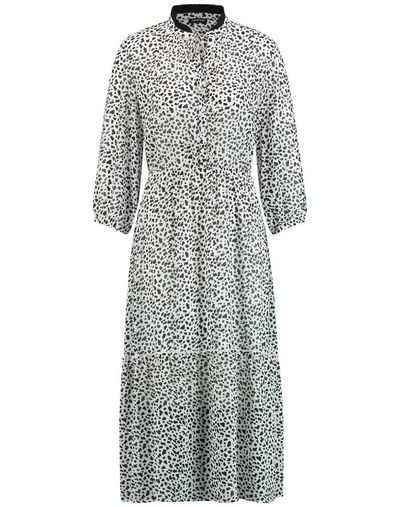 Taifun Minikleid »Langes Kleid mit schwarzen Dots« A-Linie