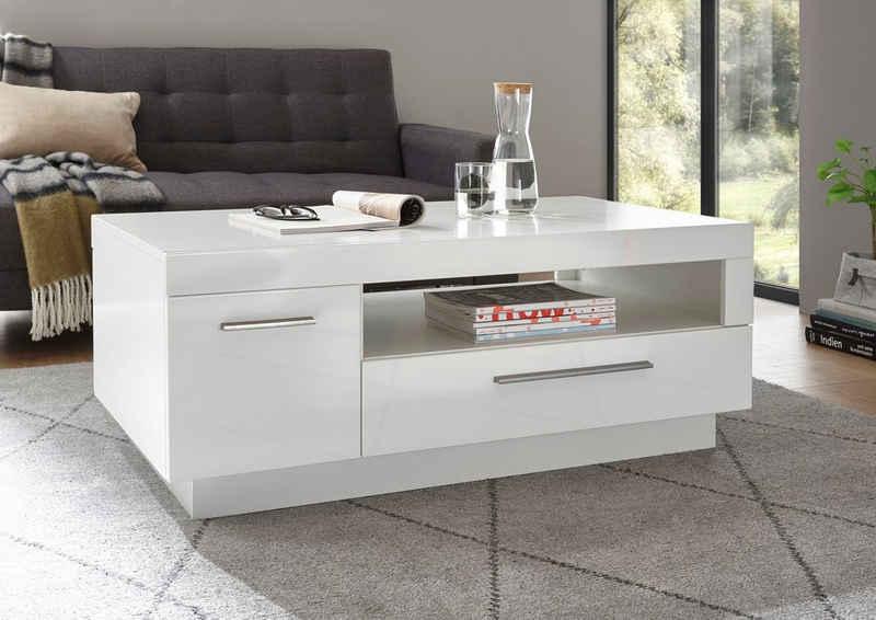 Places of Style Couchtisch »MERAN«, im modernen Design mit 1 Tür, 1 Schubkasten und 1 offenes Fach