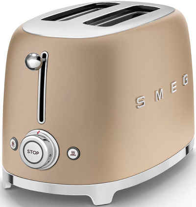 Smeg Toaster TSF01CHMEU, 2 kurze Schlitze, 950 W