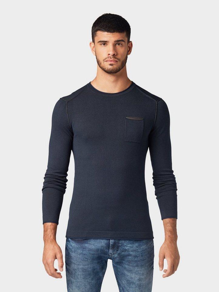 tom tailor -  Strickpullover »Strickpullover mit Brusttasche«