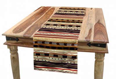 Abakuhaus Tischläufer »Esszimmer Küche Rechteckiger Dekorativer Tischläufer«, Ethnisch Afrika Horizontale Streif