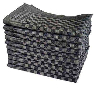 One Home Geschirrtuch »Karo«, (10-tlg., Grubentücher Set), 100% Baumwolle, Halbzwirn Qualität