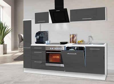 RESPEKTA Küchenzeile »RP250«, mit E-Geräten, Breite 250 cm