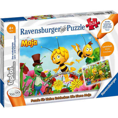 Ravensburger Puzzle »tiptoi® Puzzle für kleine Entdecker: Biene Maja«, Puzzleteile