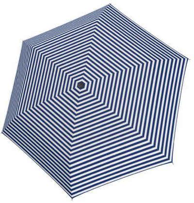 Tamaris Taschenregenschirm »Tambrella Light, Stripe Blue«, Ultraleicht