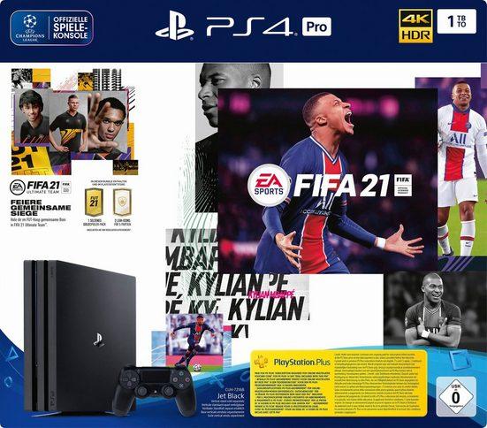 PlayStation 4 Pro 1TB, inkl. FIFA 21, Nie dagewesene ...