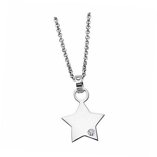LOTUS SILVER Silberkette »JLP1717-1-1 Lotus Silver Stern Halskette« (Halsketten), Damen Kette Stern aus 925 Sterling Silber, silber