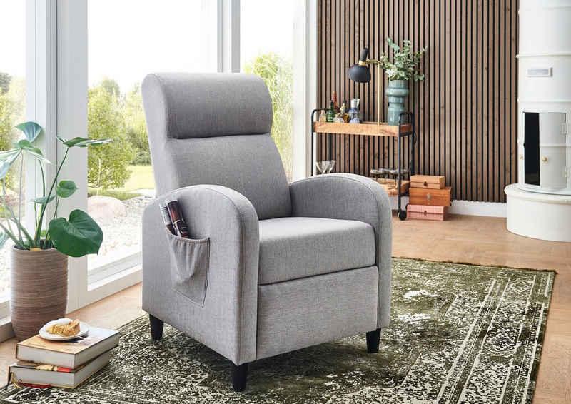 ATLANTIC home collection TV-Sessel, mit Relax- und Schlaffunktion