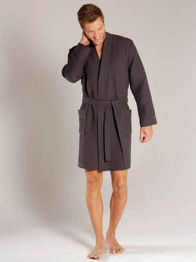 Herrenbademantel »Kurz-Kimono Länge 100cm«, Taubert, Made in Europe